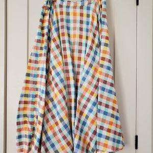 SOLD - Anthropologie Midi gingham skirt